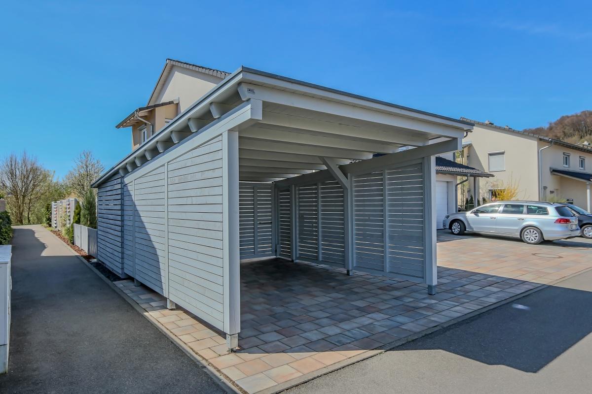 Projekte fam haumann carports for Geschlossener carport